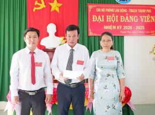 Chi bộ Phòng Lao động - Thương binh và Xã hội huyện Thạnh Phú tổ chức Đại hội nhiệm kỳ 2020 - 2025