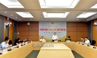 Ủy ban Pháp luật của Quốc hội họp phiên toàn thể lần thứ 28