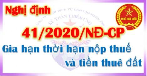 Hướng dẫn lập giấy đề nghị gia hạn nộp thuế, tiền thuê đất theo Nghị định số 41/2020/NĐ-CP