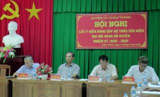 Châu Thành: Lấy ý kiến cán bộ hưu trí đóng góp dự thảo Văn kiện Đại hội Đảng bộ huyện