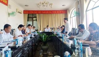 Bí thư Tỉnh ủy làm việc về công tác chuẩn bị Đại hội Đảng cấp huyện