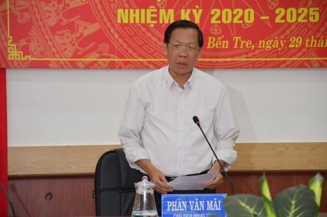 Chủ tịch HĐND tỉnh Phan Văn Mãi làm việc với Ban Kinh tế và Ngân sách