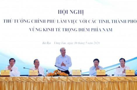 Thủ tướng Chính phủ làm việc với các tỉnh, thành phố Vùng KTTĐ phía Nam