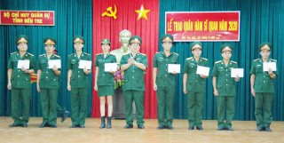 Bộ Chỉ huy Quân sự tỉnh tổ chức lễ trao quân hàm cho sĩ quan năm 2020