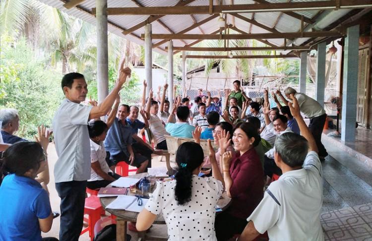 Người dân ấp Minh Nghĩa đồng thuận tiếp tục thi công đường ĐC 11