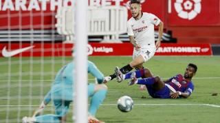 Barca bị Sevilla cầm chân, nguy cơ mất ngôi đầu La Liga