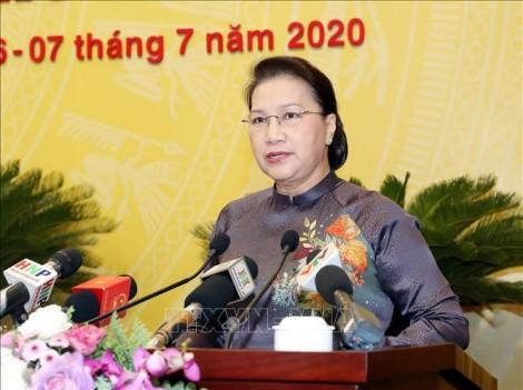 Chủ tịch Quốc hội Nguyễn Thị Kim Ngân dự khai mạc Kỳ họp thứ 15, HĐND TP. Hà Nội
