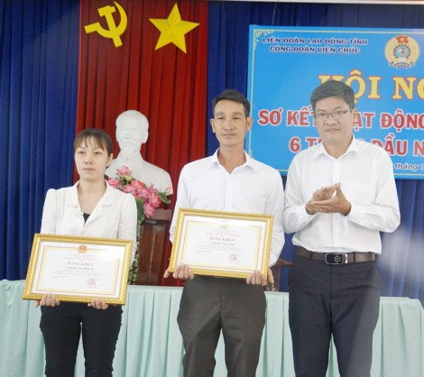 Công đoàn Viên chức tỉnh sơ kết hoạt động 6 tháng đầu năm 2020
