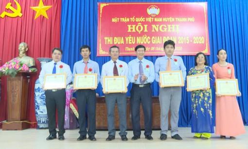 MTTQ Việt Nam huyện Thạnh Phú hội nghị thi đua yêu nước giai đoạn 2015 - 2020