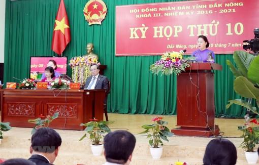 Chủ tịch Quốc hội dự Kỳ họp thứ 10 Hội đồng Nhân dân tỉnh Đắk Nông