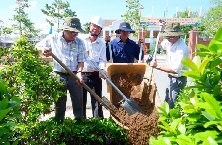 Thạnh Phú trồng mới hệ thống cây xanh đô thị năm 2020
