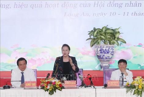 Chủ tịch Quốc hội dự Hội nghị thường trực HĐND các tỉnh Đông Nam Bộ và ĐBSCL