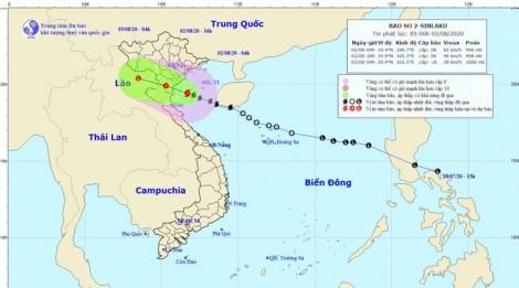 Bão số 2 đi vào các tỉnh từ Ninh Bình đến Nghệ An