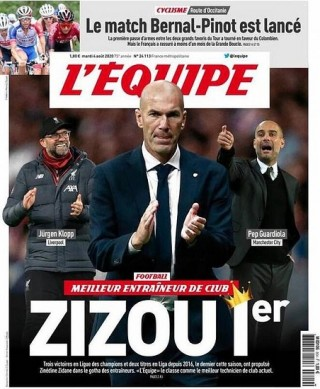 Tin bóng đá 4-8-2020: Zidane được bầu là HLV xuất sắc nhất mùa này
