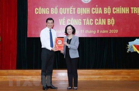 Ông Nguyễn Hồng Lĩnh giữ chức Phó trưởng ban Dân vận Trung ương