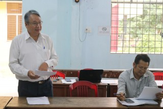 Kiểm tra xây dựng nông thôn mới Thạnh Phú Đông