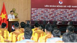 Lãnh đạo VFF gặp gỡ, động viên đội tuyển U22 Quốc gia và U19 Quốc gia