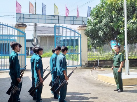 Ban Chỉ huy Quân sự xã Hưng Khánh Trung B với phong trào thi đua Quyết thắng