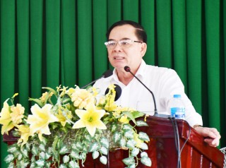 Phó bí thư Thường trực Tỉnh ủy làm việc với Thành ủy Bến Tre