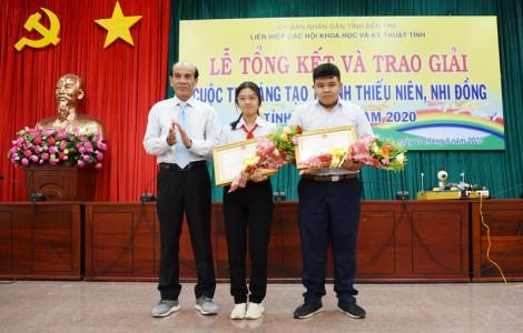Trao giải cuộc thi Sáng tạo thanh thiếu niên, nhi đồng tỉnh Bến Tre năm 2020