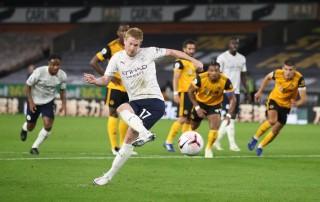 De Bruyne tỏa sáng giúp Man City đánh bại Wolves