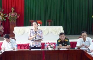 Giồng Trôm kiểm tra công tác xây dựng nông thôn mới tại xã Sơn Phú