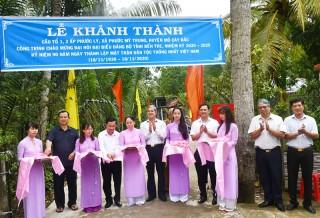 Khánh thành công trình chào mừng Đại hội XI Đảng bộ tỉnh